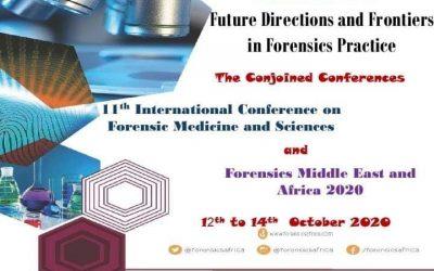 """المؤتمر الدولي الحادي عشر للرابطة العربية للطب الشرعي تحت عنوان: """"التوجيهات المستقبلية والمستجدات في ممارسة الطب الشرعي"""" من ١٢ الي ١٤ اكتوبر ٢٠٢٠"""